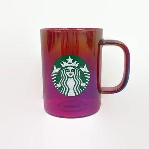 Starbucks Holiday 2019 Red Clear Iridescent Mug